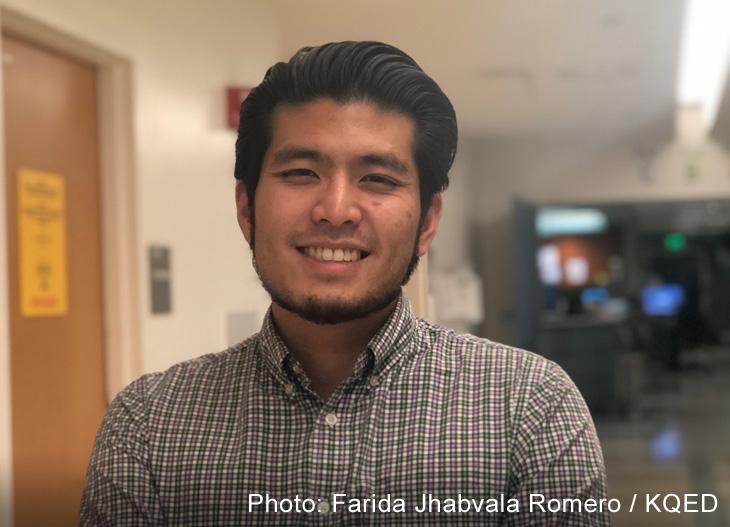 Jirayut 'New' Latthivongskorn, a DACA recipient, finishes a shift as a medical resident at Zuckerberg San Francisco General Hospital and Trauma Center on Nov. 4, 2019. (Farida Jhabvala Romero/KQED)